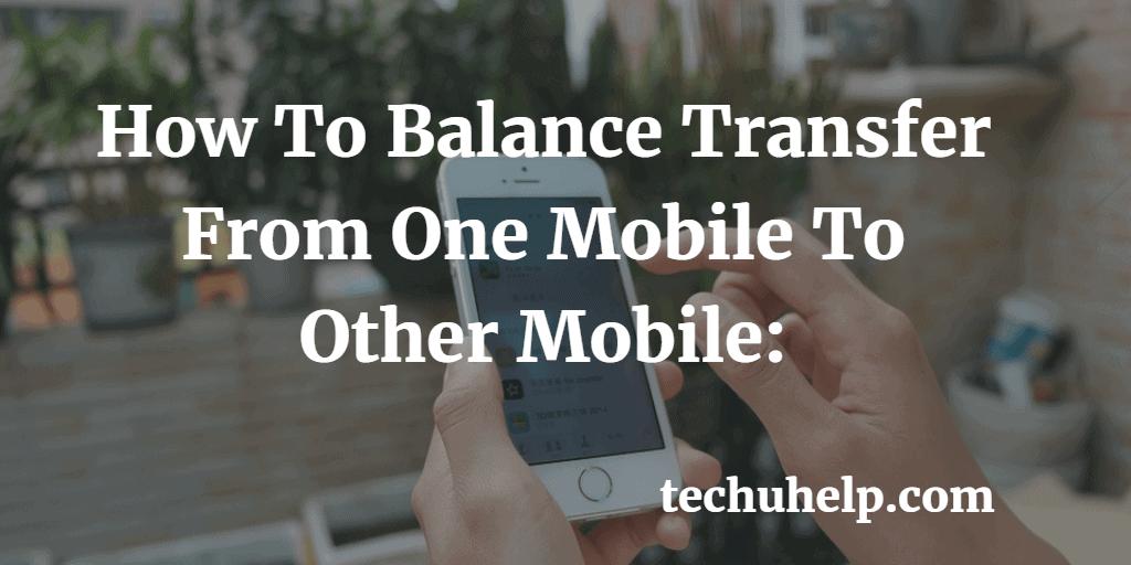 transfer balance