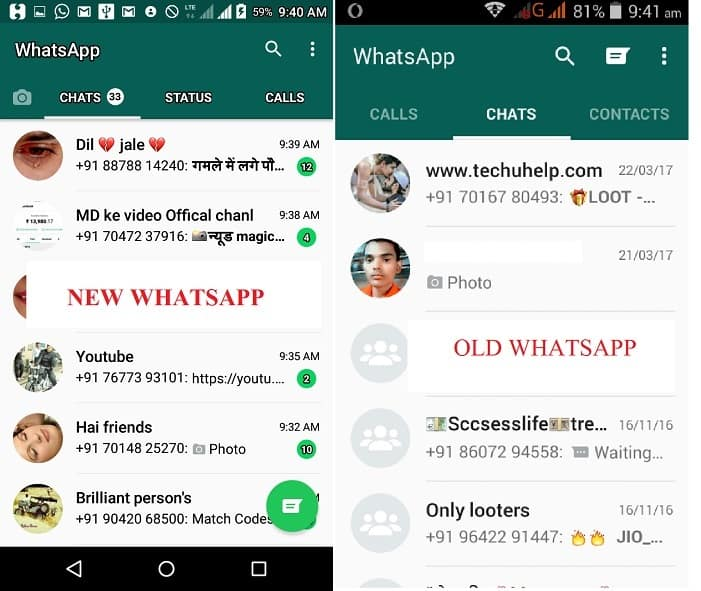OLD WHATSAPP NEW