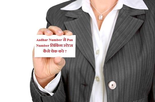 आधार नंबर से पैन नंबर लिंकिंग स्टेटस कैसे चेक करे? Pan Aadhar Link Status Online Check Kaise Kare?