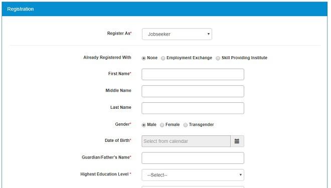 National Career Service Portal online apply