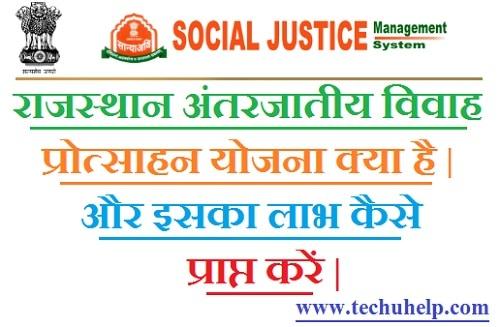 Rajasthan Antarjatiy Vivah Protsahan Yojana