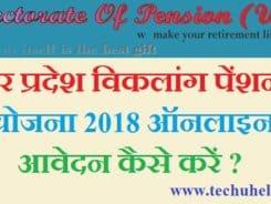 UP Viklang Pension Yojana 2018 ke liye aavedan kaise kare