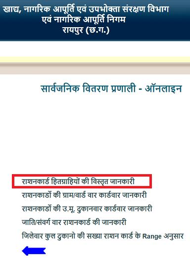 न्यू Chhattisgarh Ration Card List 2019 में ऑनलाइन नाम कैसे देखें ? CG Rashan Card List APL BPL