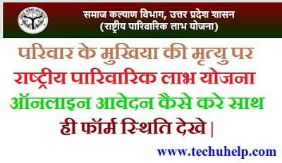 Rastriya Parivarik Labh Yojana online apply kare