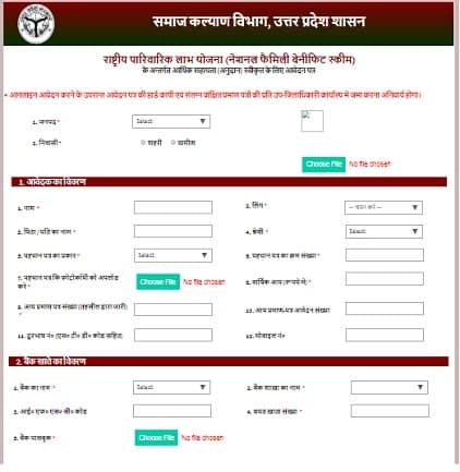 राष्ट्रीय पारिवारिक लाभ योजनाonline apply kare