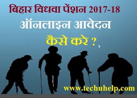 Vidhwa Pension Yojana Bihar 2017-18 ऑनलाइन आवेदन फॉर्म