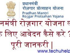 [प्रधानमंत्री Loan] Pradhan Mantri Rozgar Loan Yojana 2018 ऑनलाइन आवेदन| एप्लीकेशन फॉर्म