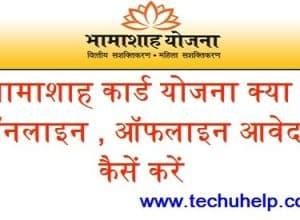 Bhamashah Card Yojana क्या है ? भामाशाह कार्ड के लिए ऑनलाइन , ऑफलाइन आवेदन कैसे करें