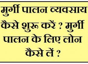 Murgi Palan Loan Kaise Le Murgi Farm Business In Hindi