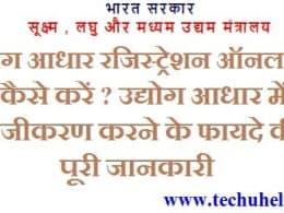 Udyog Aadhar Registration Online कैसे करें ? Udyog Aadhar Online Registration Benefits in hindi Print Update – MSME