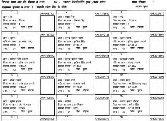 Voter List PDF Uttar Pradesh UP Voter List 2019 download kaise kare 4