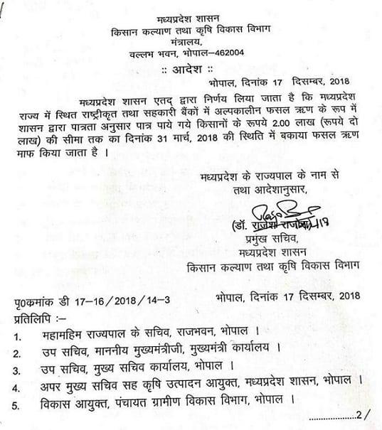 [लिस्ट] MP Kisan Karj Mafi List 2019 | पात्रता एंव अन्य जानकारी | Kisan Karz Mochan MP 2018