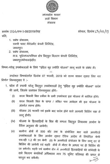 मध्य प्रदेश इंदिरा गृह ज्योति योजना 2019 में आवेदन कैसे करें ? MP Indira Grah Jyoti Yojana 2019