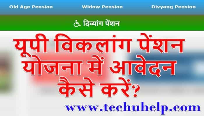 [पंजीकरण] UP Viklang Pension 2020 ऑनलाइन आवेदन, एप्लीकेशन फॉर्म   उत्तर प्रदेश विकलांग पेंशन योजना