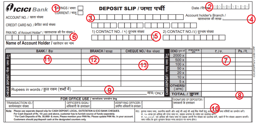 बैंक डिपोजिट स्लिप कैसे भरे ? Bank Ki Slip Kaise Bhare ?