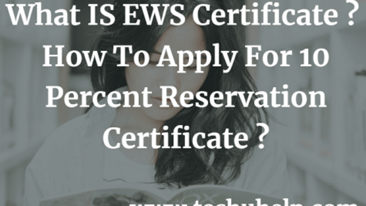 Form Download] What IS EWS Certificate? How To Apply For 10