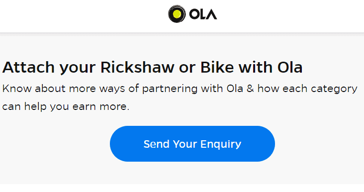 OLA Cab क्या है।? Ola Me Bike Kaise Lagaye? Ola Bike Registration Process In Hindi