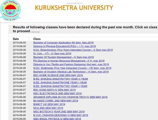Kurukshetra University BA,BSC,B.COM रिजल्ट ऑनलाइन कैसे देखें? Kuk Result 2019