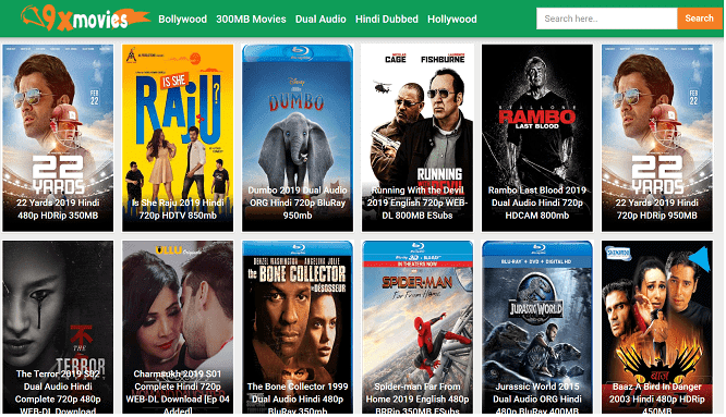 9xMovies 2019 – Bollywood, Hollywood, Tamil, South Indian Movies Download In Hindi