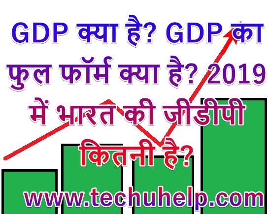 GDP क्या है? GDP का फुल फॉर्म क्या है? Bharat Ki GDP Kitni Hai 2019