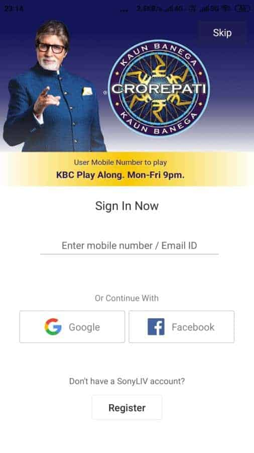Online KBC Registration Sony Liv Par Kaise Kare