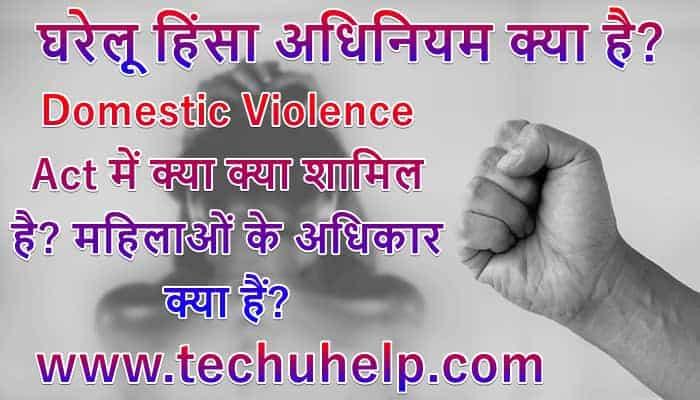 घरेलू हिंसा अधिनियम क्या है? Domestic Violence Act में क्या क्या शामिल है? महिलाओं के अधिकार क्या हैं?