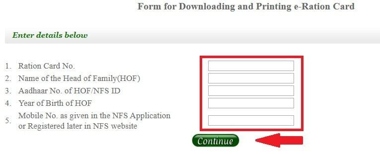 eRation Card Delhi for Download