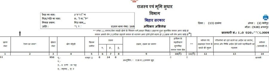 Now Get Your Land Record in Bihar