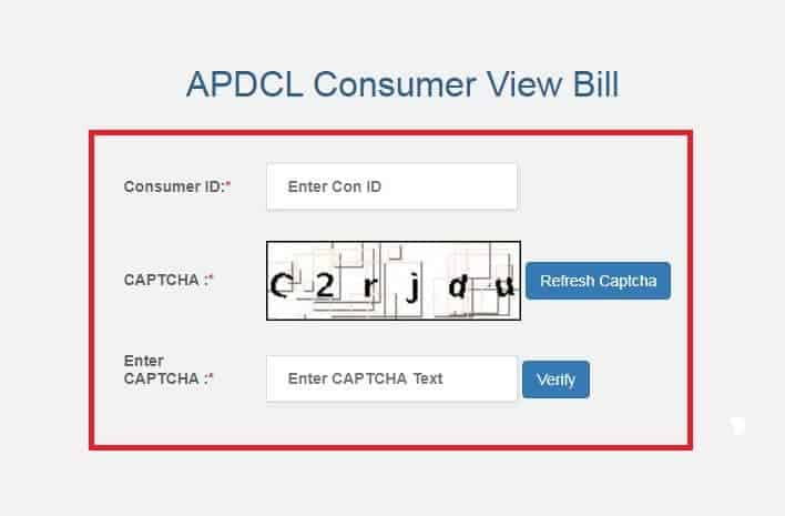 Fill Here Consumer Number