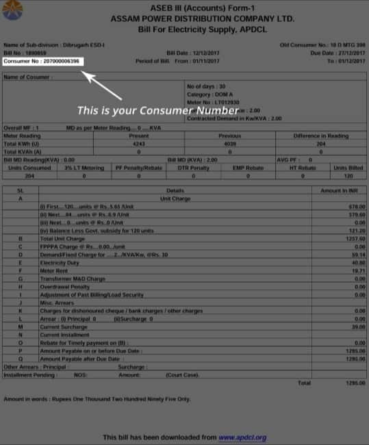 Find Your Consumer Number