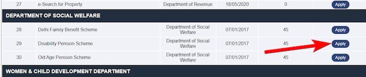 दिल्ली विकलांग पेंशन योजना आवेदन ऑनलाइन आवेदन फॉर्म | Disability Pension Scheme Delhi