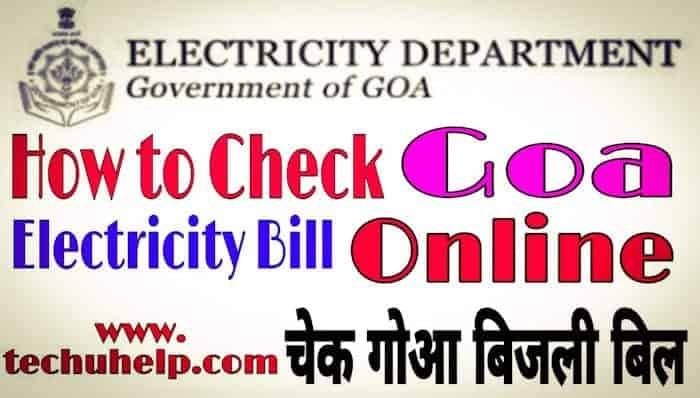 Goa Bijli Bill Check Process in Hindi