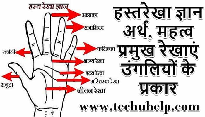 Hast Rekha Gyan in hindi | हस्तरेखा ज्ञान अर्थ, महत्व, प्रमुख रेखाएं, उंगलियों के प्रकार