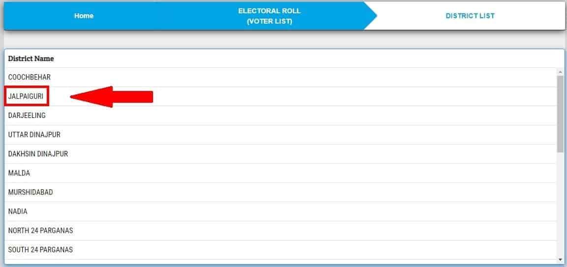 Choose Jiawar Voter List WB