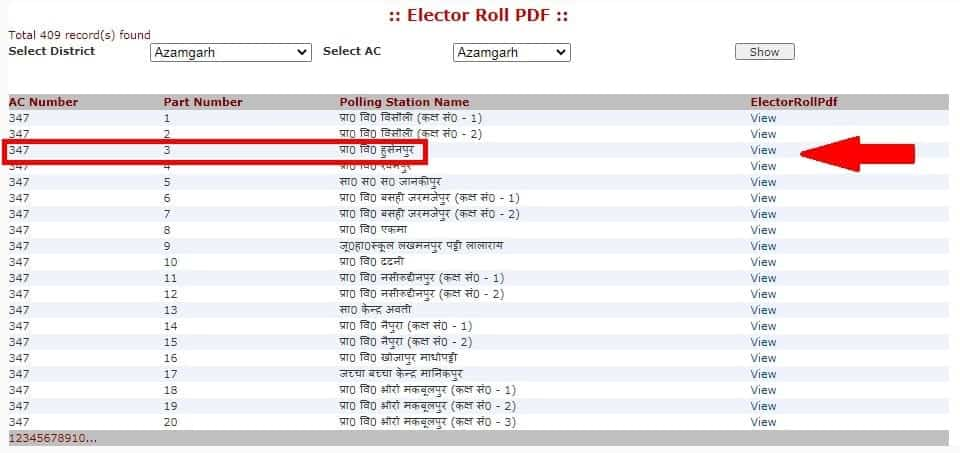 Select Here AC Number & Polling Station