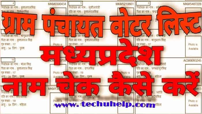 How to Check MP Gram Panchayat Voter List in Hindi