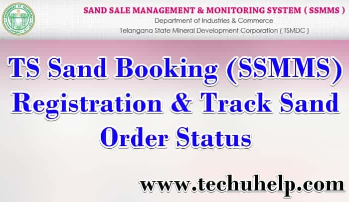 TS Sand Booking (SSMMS): Registration & Track Sand Order, Status